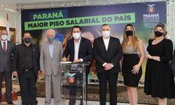 Governador ratifica novo salário mínimo regional do Paraná, o maior do País