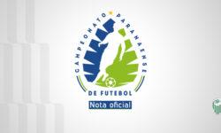Federação Paranaense de Futebol suspende realização da 3ª rodada do paranaense 2021