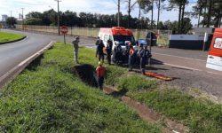 Idoso é encontrado em canaleta de escoamento na BR 277 em Cascavel