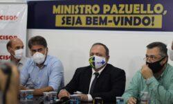 Pazuello despacha com Paranhos a liberação de mais 80 respiradores para a Região Oeste