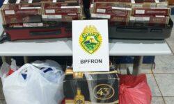 BPFRON apreende contrabandeado em ônibus durante Operação Hórus em Cascavel-PR