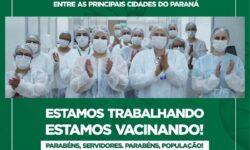 Cascavel lidera vacinação entre as principais cidades do Paraná