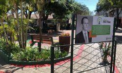 Reinauguração da praça Alameda Souza Naves